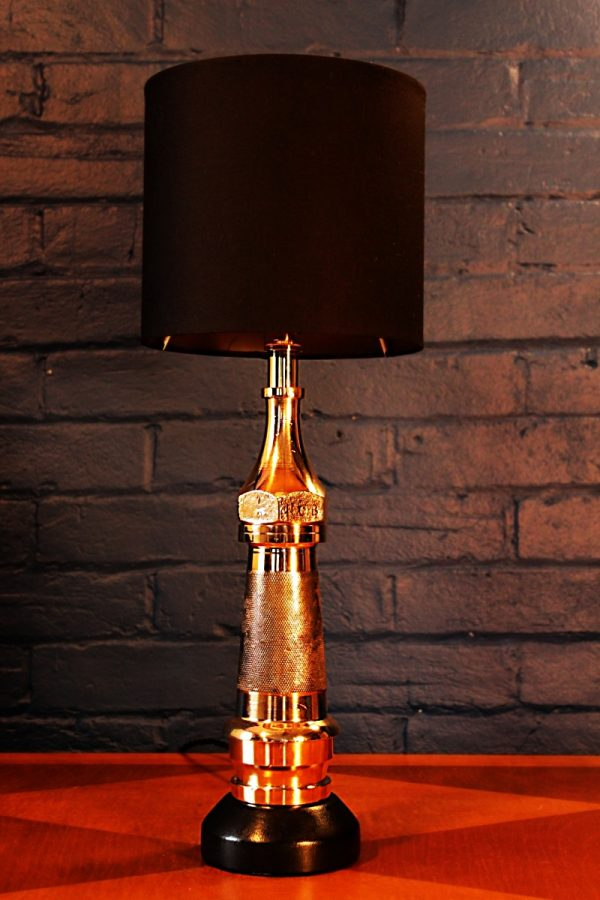 Brass fire branch knurled lamp for sale